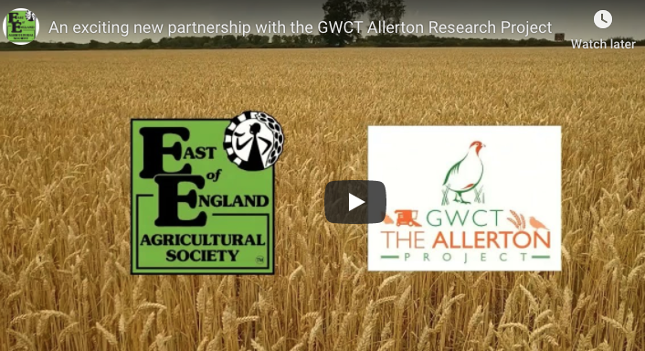 An exciting new partnership for The GWCT Allerton Project
